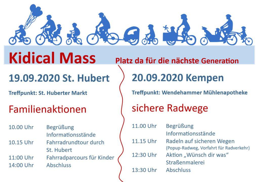 Kidical Mass am 19. und 20.9.2020